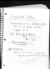 class notes- expected value