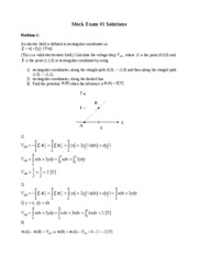 Mock Exam1 Solutions