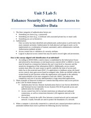 Unit 5 Lab 5 Enhance Security Controls for Access to Sensitive Data