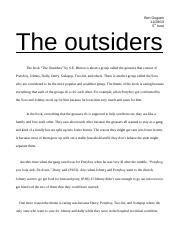 persuasive essay the outsiders