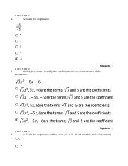 week 1 assignment MA 105 COLLEGE ALGEBRA.docx