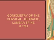 Kinesiology Goniometry of Spine