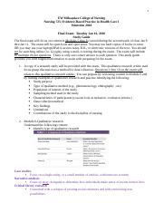 N725 Final Exam Study Guide Winterim 2018 (2).docx