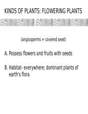 Lec4,5-FloweringPlants