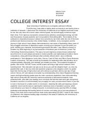 College essay for AP Lang