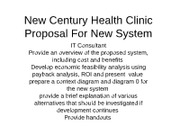 Ricky smithw century health clinic chap 7 proposal for new new century health clinic chap 7 proposal for new system value 0 diagram jc new century health clinic weekly provider report statement ccuart Gallery
