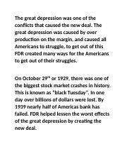 The great depression was one of the conflicts that caused the new deal.docx