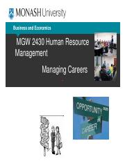 Lecture 10_managing careers