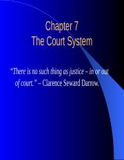 Chapter 7 - The Court System