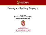 Hearing and Auditory Displays