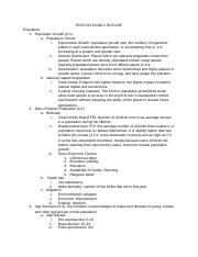 Intro to Environmental Science Exam 2 Outline