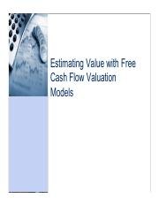 CNC6_Free cash flow valuation models