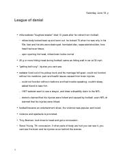 League of Denial Video Notes