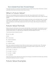 How to Calculate Future Value.docx