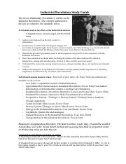 Industrial Revolution Study Guide.doc