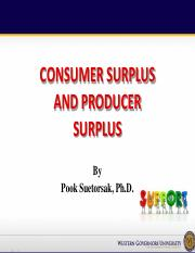 Consumer surplus and producer