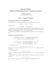 CS 311 Notes on Logical Notation