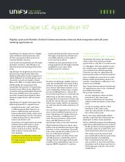 OpenScape UC Application V7, Unified Communications Solution, Data Sheet, Issue 4.pdf