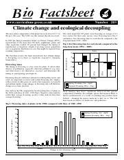 203 Climate change and ecological decoupling