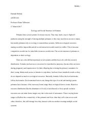 Ecology and Social Structure in Primates.docx