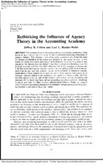 Cohen and Holder-Webb, Agency theory