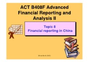 B408F Topic 8 Financial reporting in China (2012)