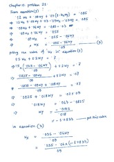 CF - Answer Sheet For Excercise Chapter 10, Problem 21