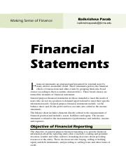 2 Financial Statements Notes