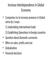 Increase Interdependence in Global Economy.pptx