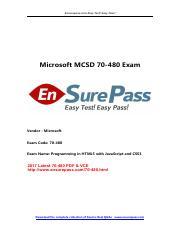 Dumps 480 microsoft pdf 70