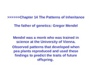 14-Mendel and the Gene Idea