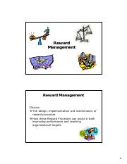 Lecture 7 HRM Reward Systems [Compatibility Mode]