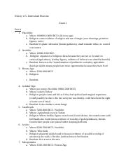 Exam One Study Guide
