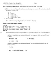 STAT 509 Practice Final Solutions