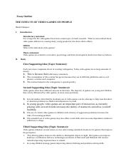 claim of policy essay outline