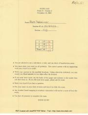 MATH 111 EXAM 2 FALL 03