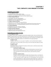 Chapter 7 The Lymphatic System Notes.docx