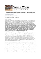 Small Wars Journal - Iraq and Afghanistan- Similar, Yet Different - 2015-08-30.pdf
