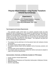 2121Analysis Requirements - Polymer