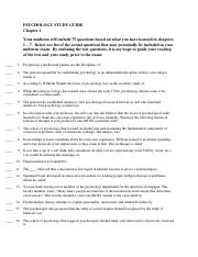 Psychology Study Guide Chapter 1(1)