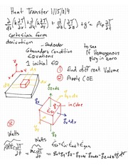 Heat Transfer - 6 Boundary Condition Equations