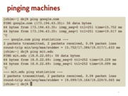 pinging machines notes