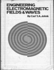 Engineering Electromagnetic Fields and Waves by Carl Johnk (Wiley) Chapter 1-2-3