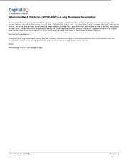 Abercrombie Fitch Co NYSE ANF Long Business Description[1]