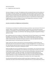 2 Pages Hum  Enlightenment And Romanticism Docx