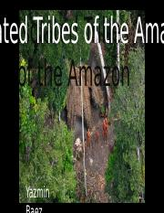 PPP Isolated Tribes of the Amazon