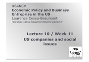 Lecture 10 US Business Companies and Social Issues 2016 PPT FOR STUDENTS