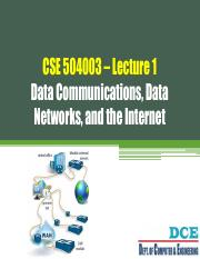 CSE504003 - Data and Computer Communication - Lecture 1