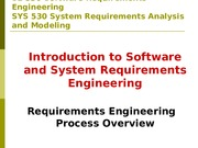 Requirements Engineering Process Overview