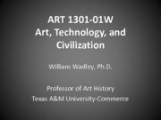 ART 1301 ONLINE Chapters 1-4